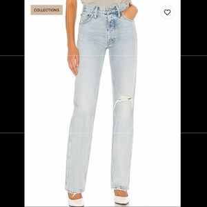 Redone NWT high rise loose jeans
